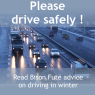 Please drive safely, read Bison Futé advice on driving in winter
