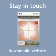 Stay in touch, new mobile website